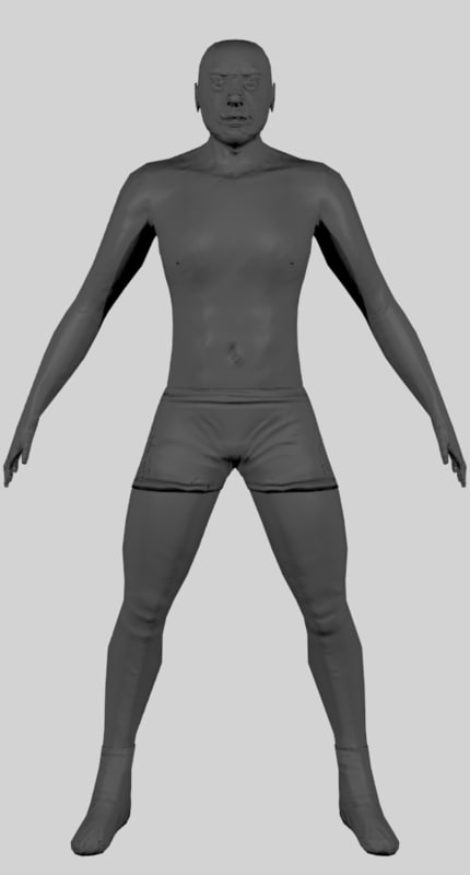 Low-Poly Human Model with Normal-Map