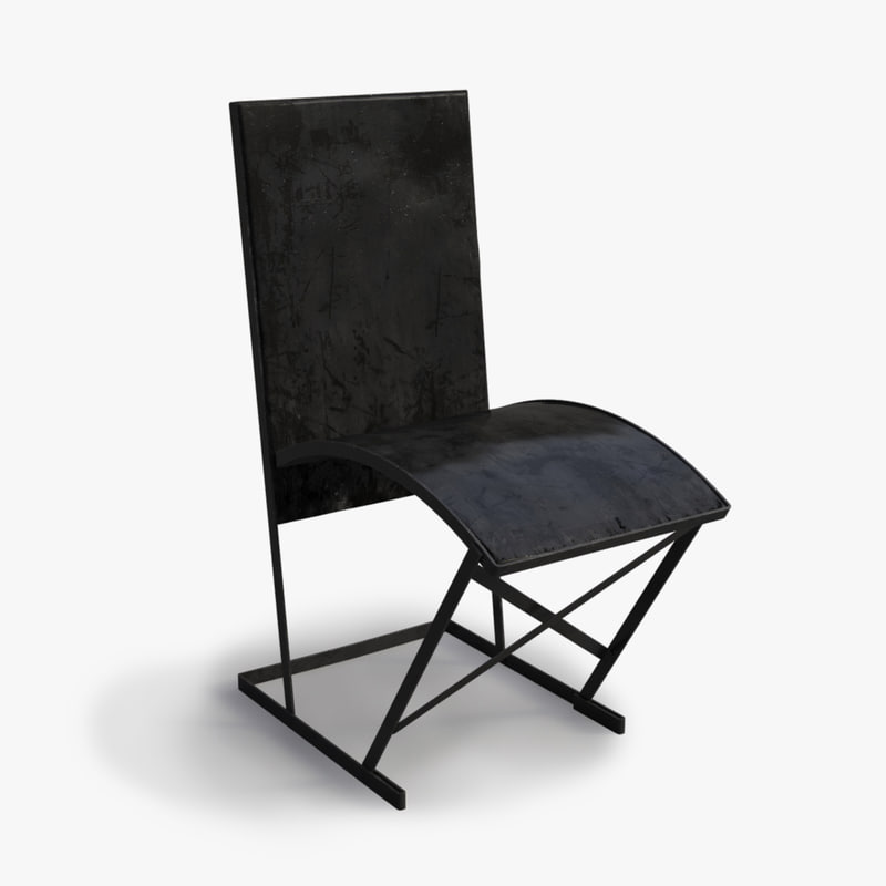 1930s French Metal Chair