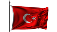 turkish flag 3D models