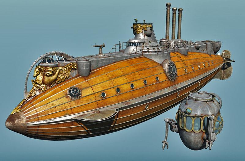 Argo Hippocamp Steampunk Submarine