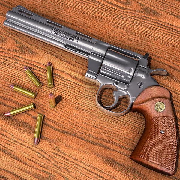 Colt Python handgun 3D Models