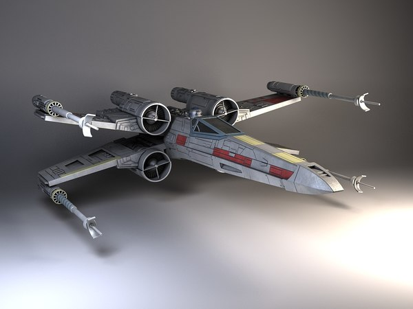 Star Wars X-Wing Fighter 3D Models