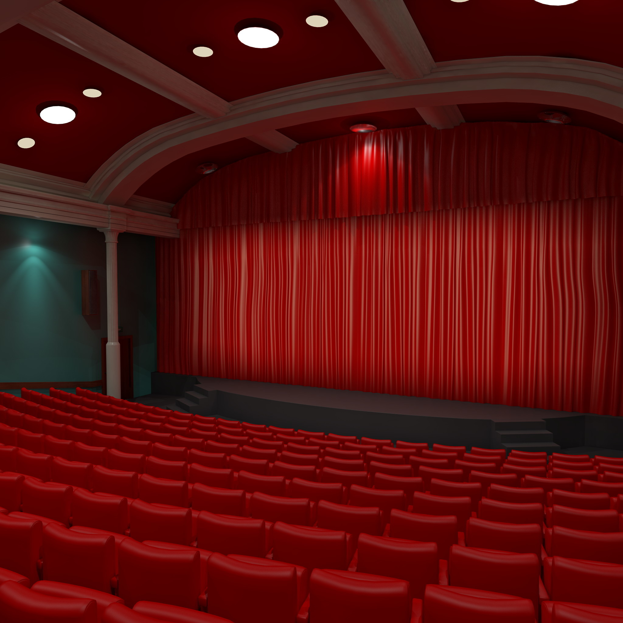 3d model interior 2 for Theatre model