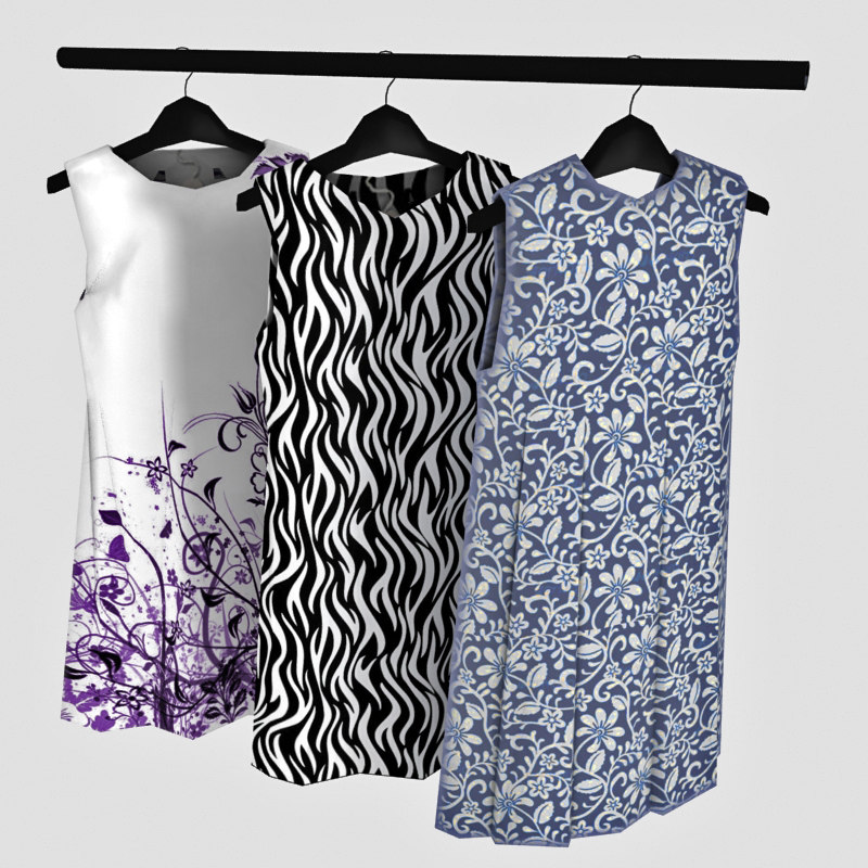 Woman Skirts on Hanger Low Poly