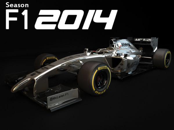 McLaren MP4-29 2014 3D Models