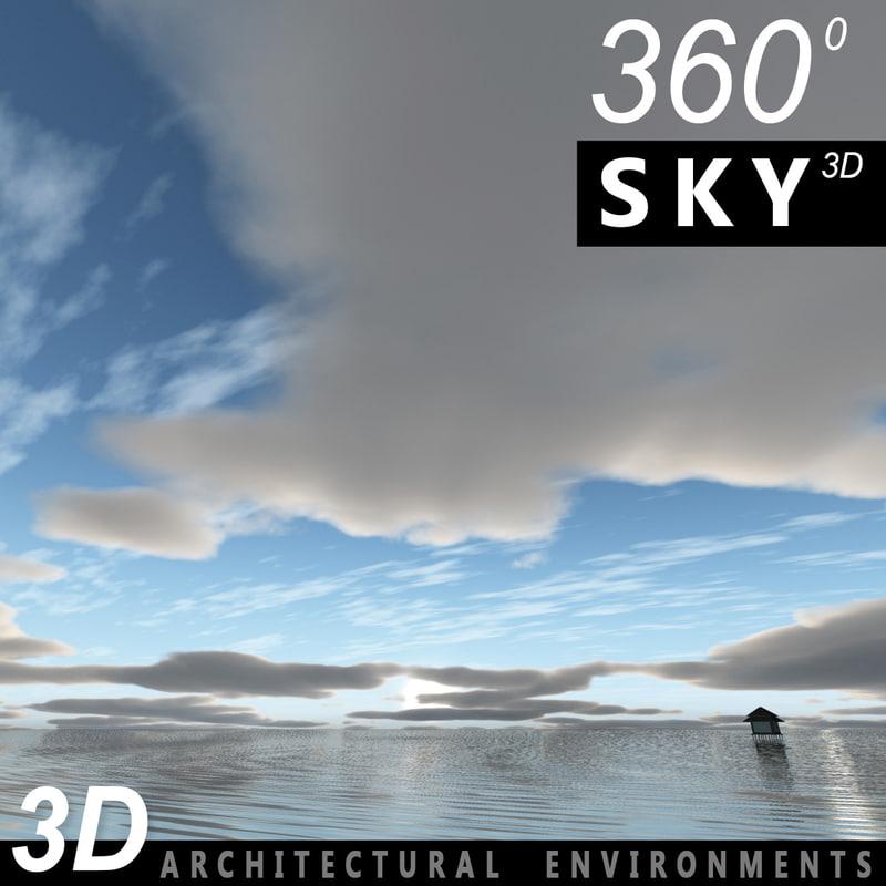 Sky 3D Clouded 015