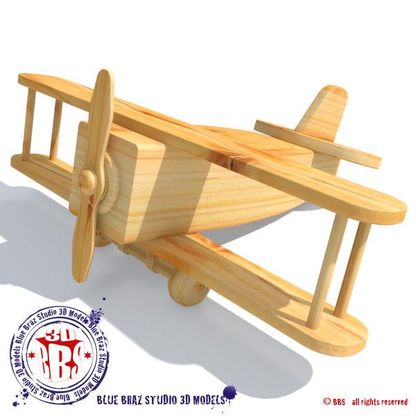 Airplane Wood Air 3ds