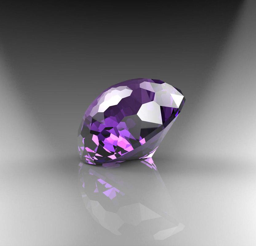 3d gem stone model