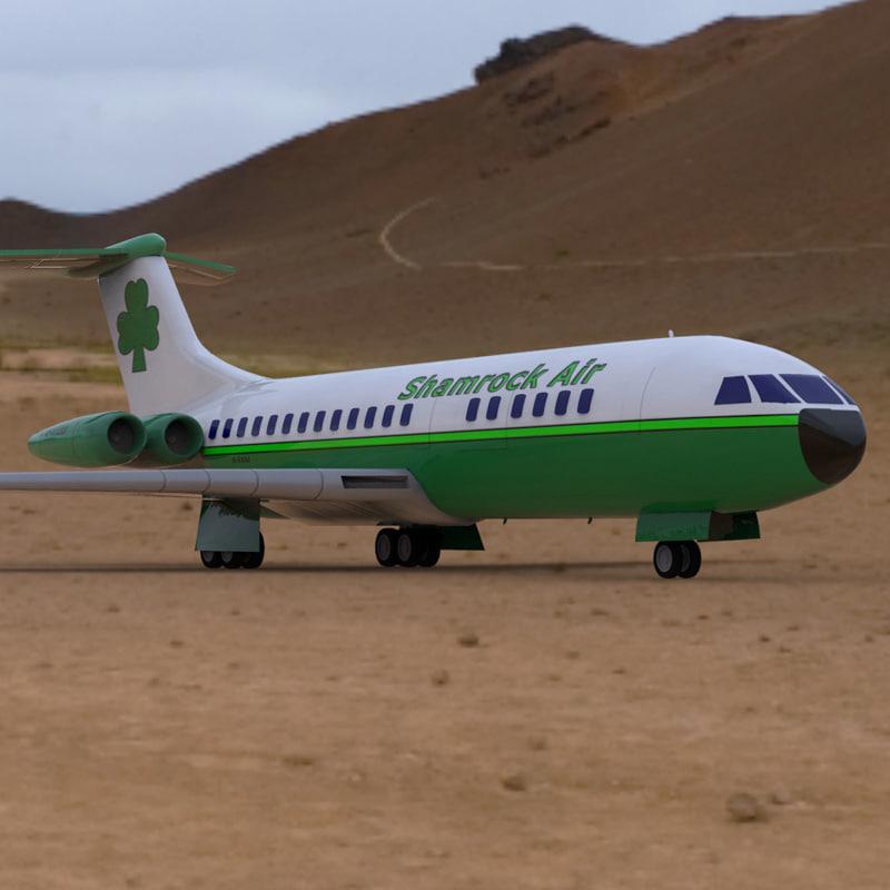 3d aircraft vickers vc 10 poser model