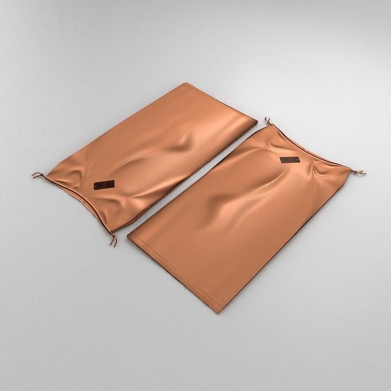 woman skirt folded 3d model