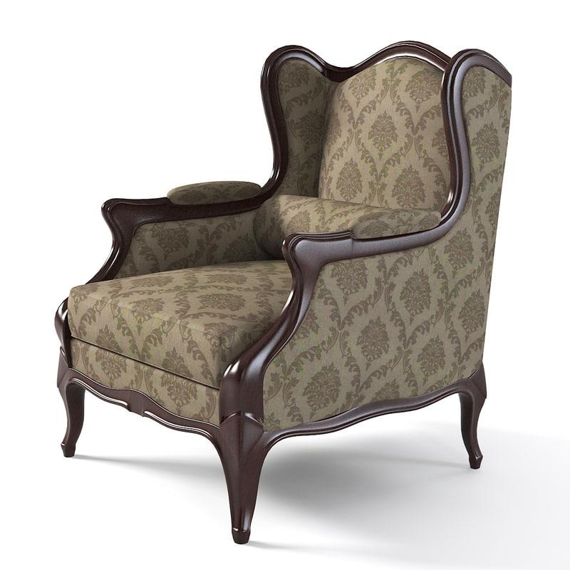Elegant Wing Chair