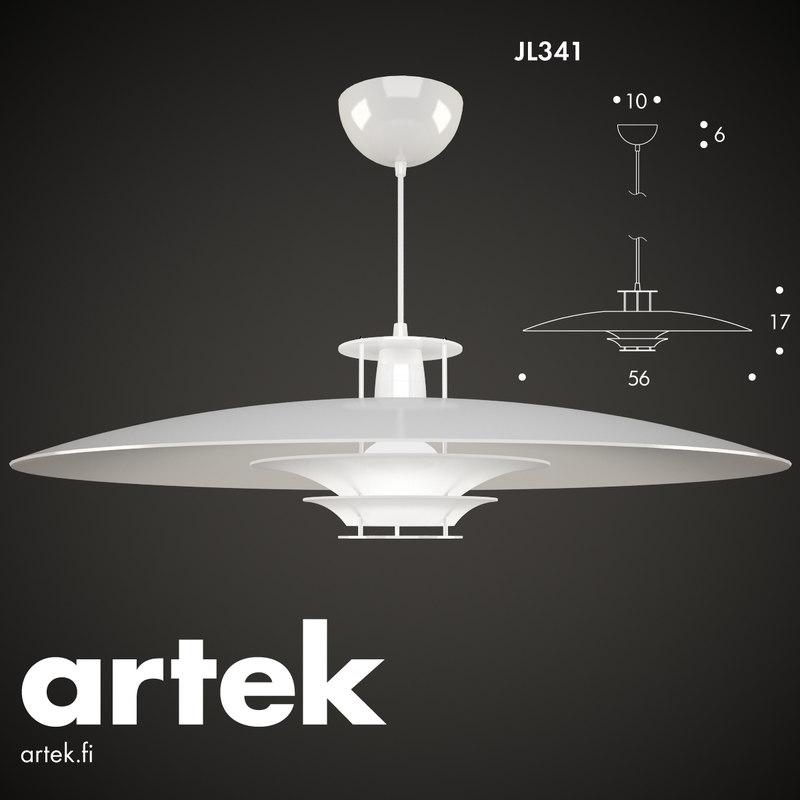 Pendant Lamp Jl341 Artek Obj