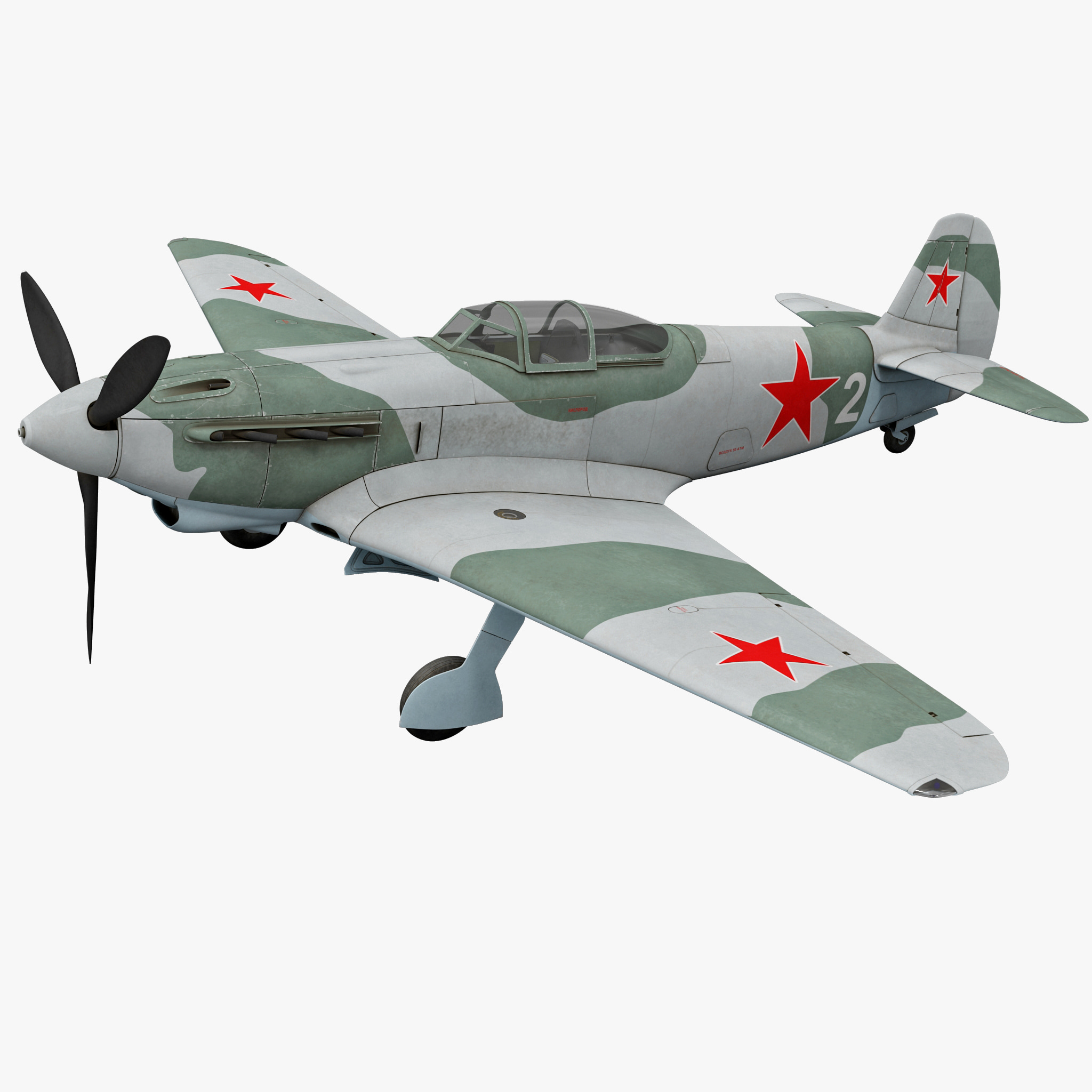 Yakovlev Yak-9 Soviet World War II Fighter 2 Rigged_1.jpg