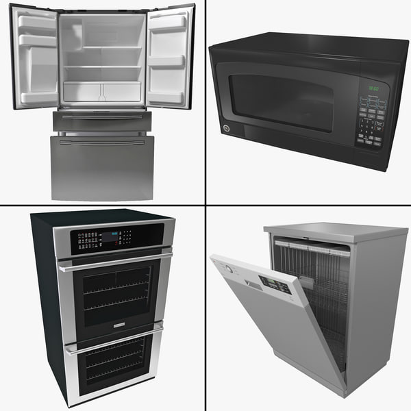 Kitchen Appliance Collection 3D Models