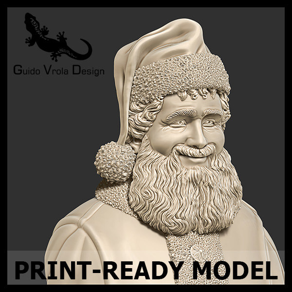 Printable Santa Claus Bust