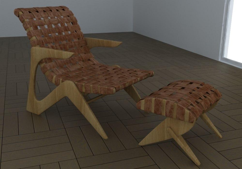 Armchair Adesso - Z Line Chaise Lounge by José Zanine Caldas.jpg