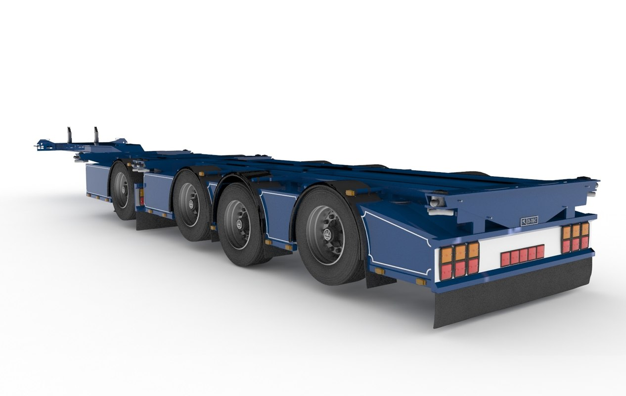 3d model of d tec chassis. Black Bedroom Furniture Sets. Home Design Ideas