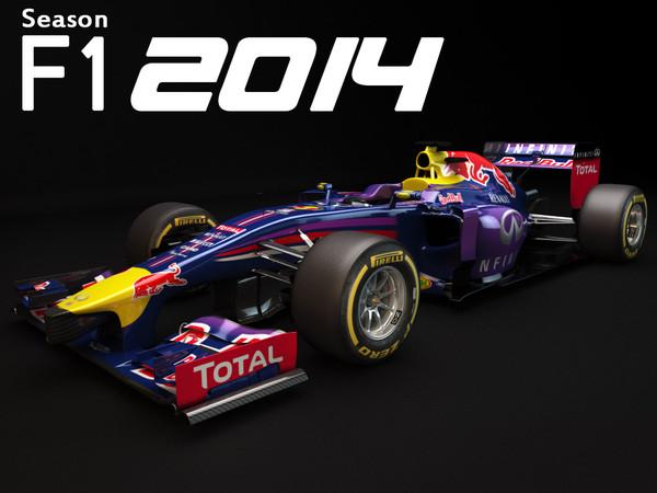 Red Bull RB10 2014 3D Models