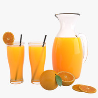 Orange Juice 3D models