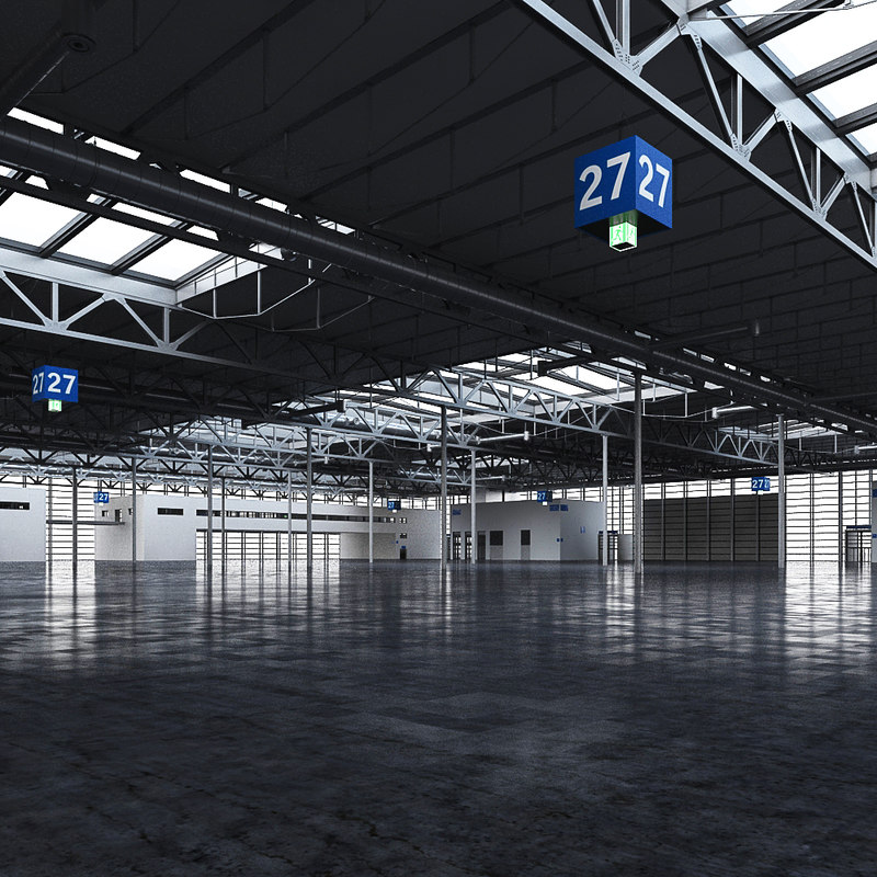 Exhibition Hall D Model Free : Exhibition hall d max