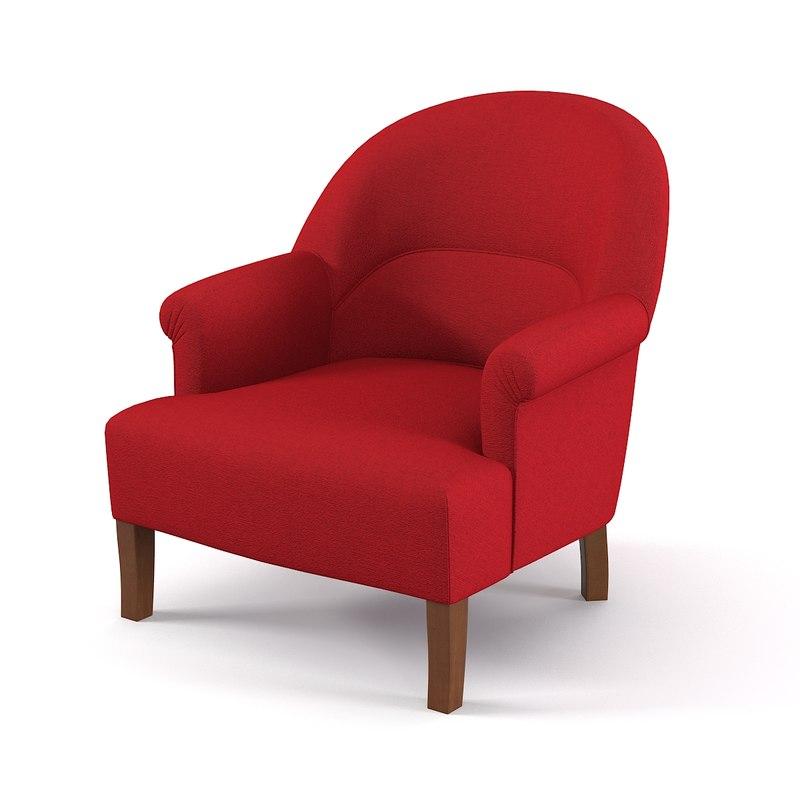3d model comptoir famille armchair - Fauteuil comptoir de famille ...