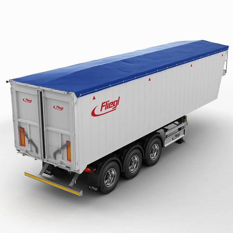 3d model trailer grain carrier