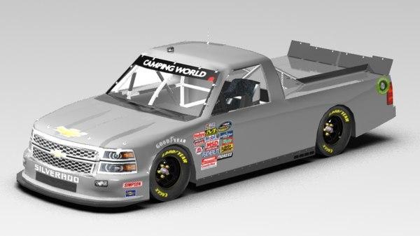 Chevrolet Silverado 2014 Nascar (Game Ready) 3D Models