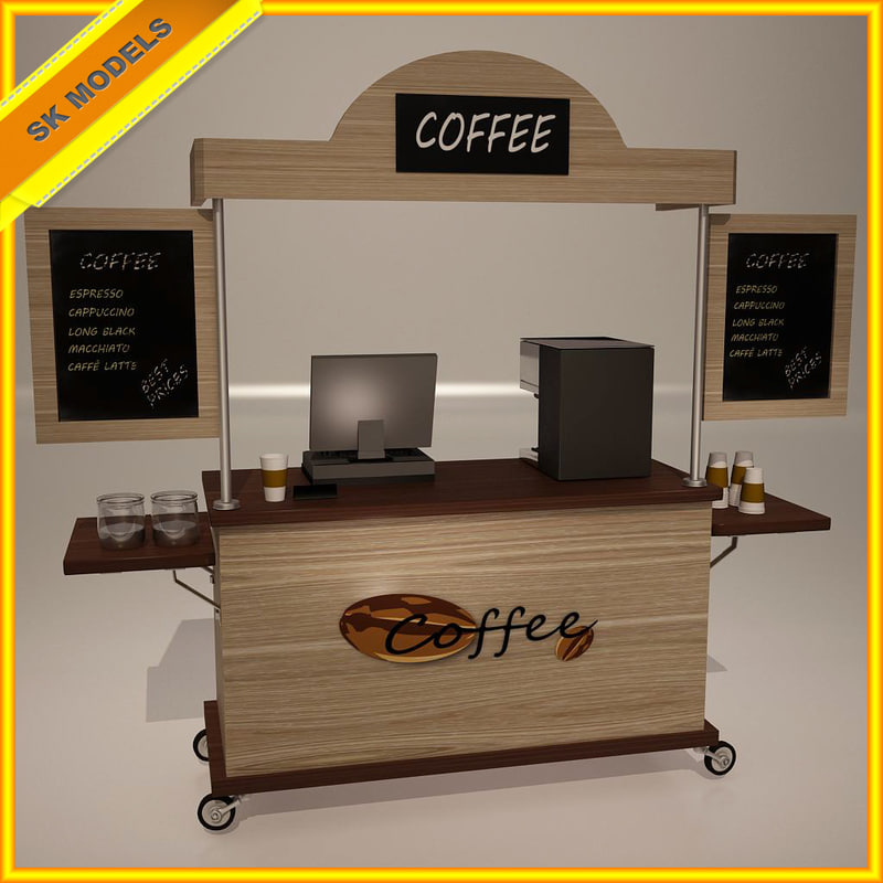3ds max coffee cart for Coffee carts for office