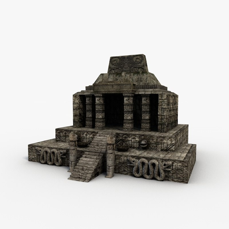 Real Time 911 >> 3d aztec temple model