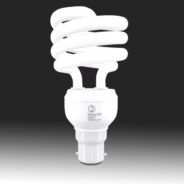 Energy Saving Light Bulb 01 3D Models
