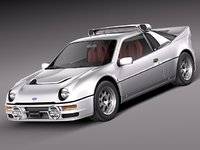 ford rs200 3D models