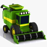 Rice combine harvester 3D models
