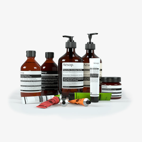 Aesop Bath Products 3D Models
