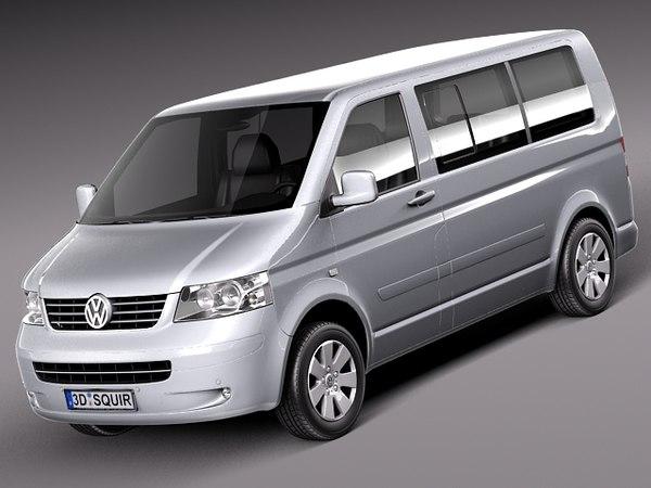 Volkswagen T5 Multivan Passenger 2003-2009 3D Models