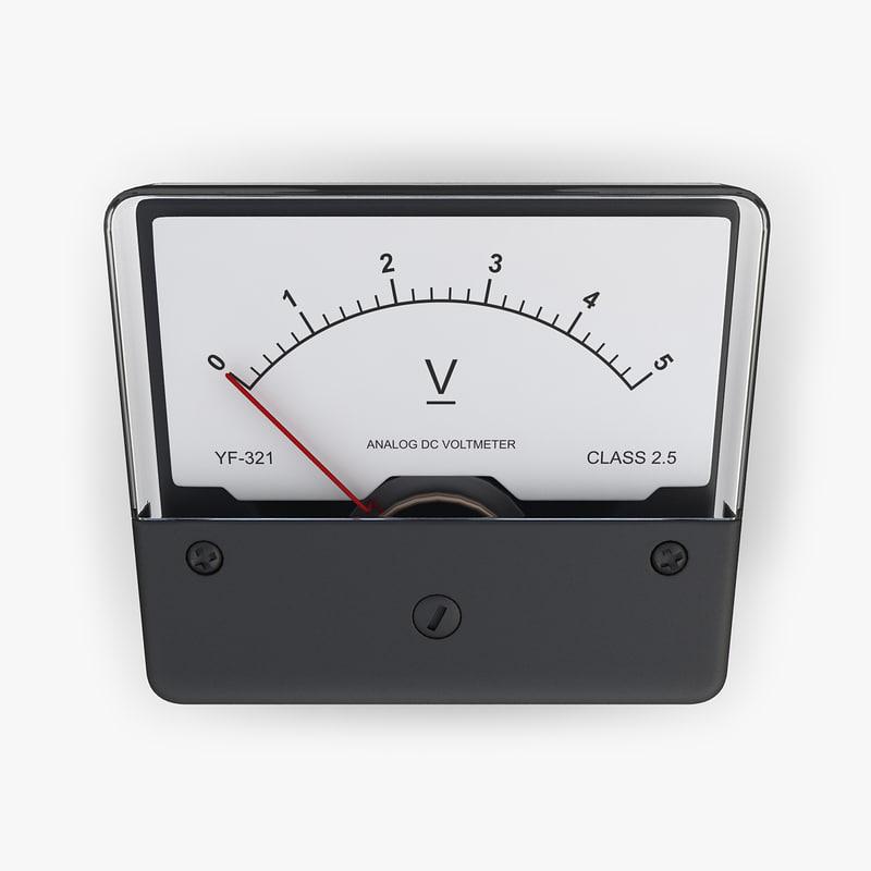 Voltmeter At A Point : Dc voltmeter electrical d model