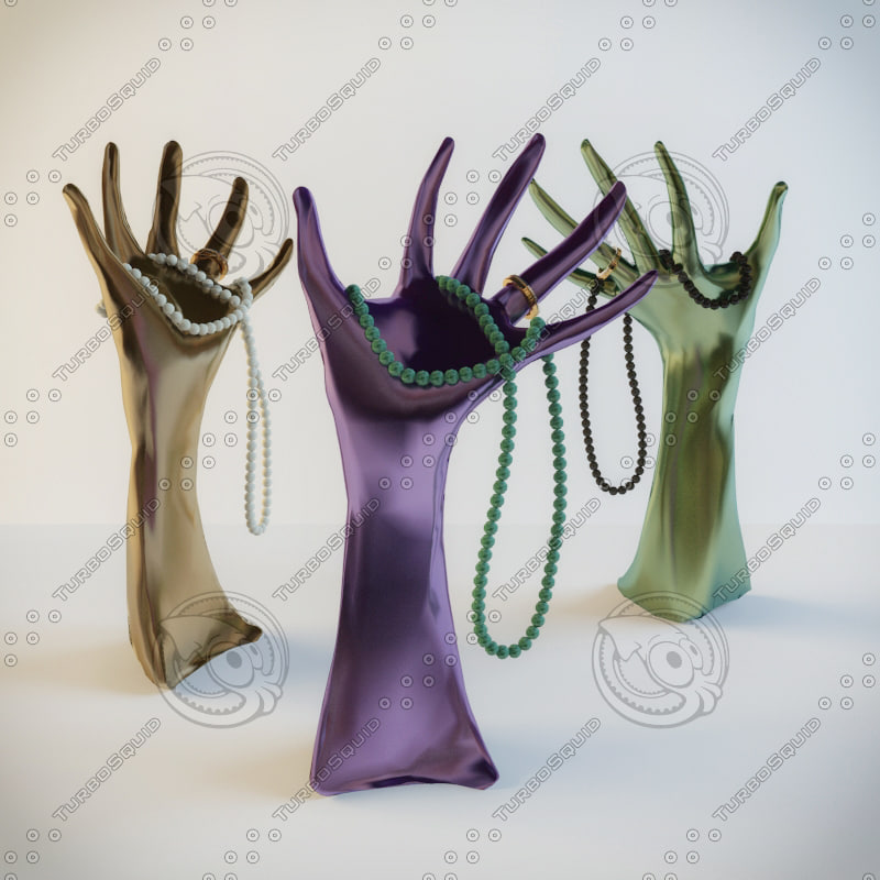 Decorative hand for jewelry Servus Shiny