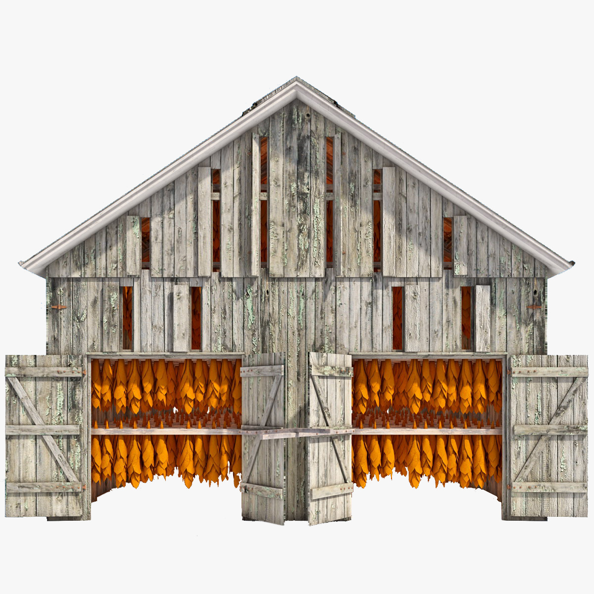 3d tobacco barn for Tobacco barn house plans