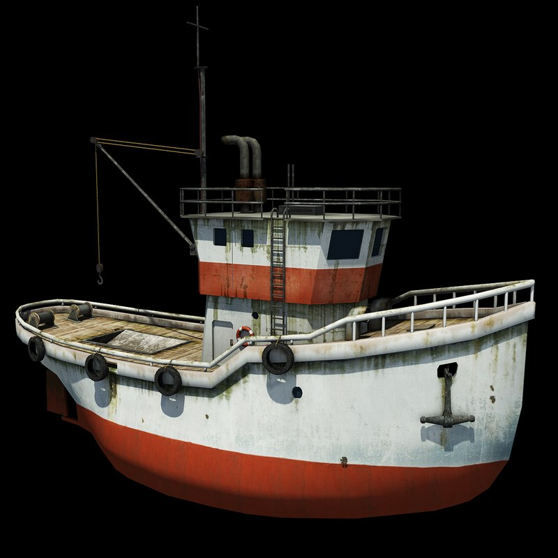 3d model old fishing boat for Old fishing boat