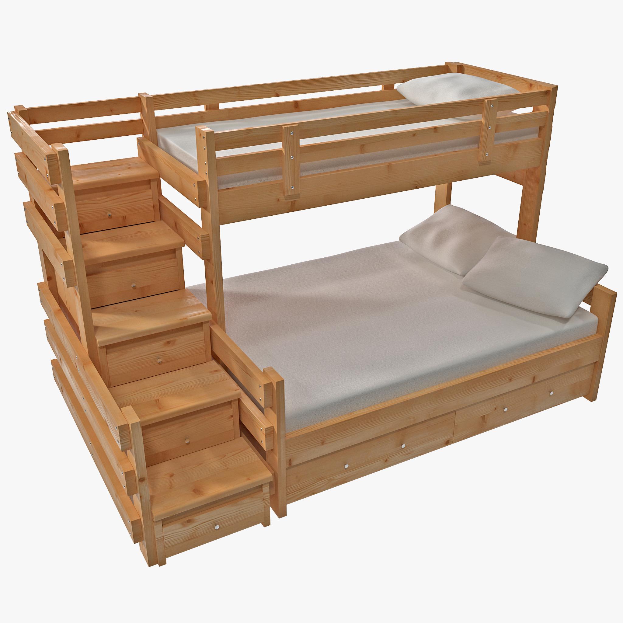 3d bunk bed model for Bed models images