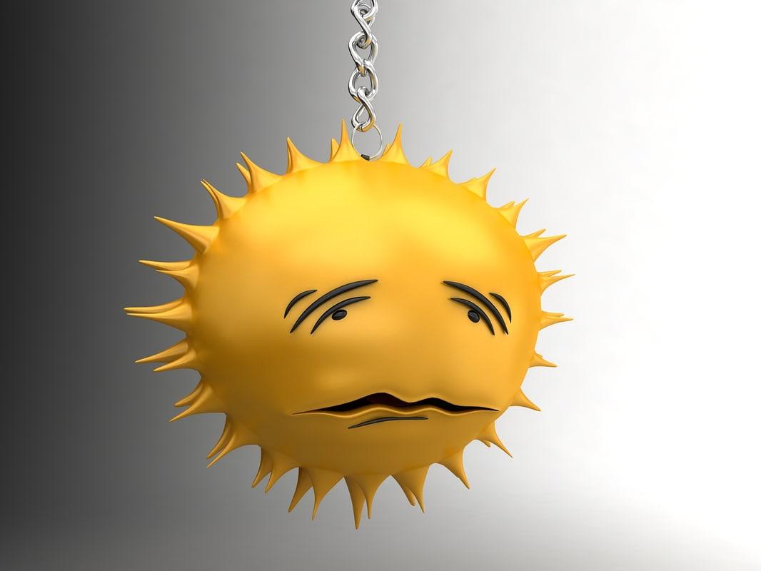 Sun sad smiley 8
