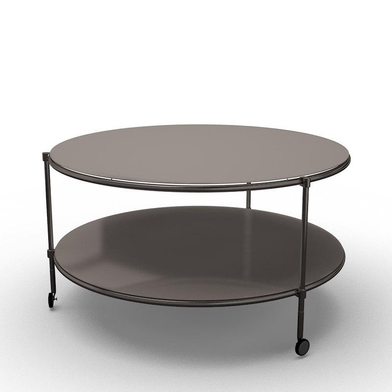Ikea strind coffee table 3d ma for Table ikea 6 99