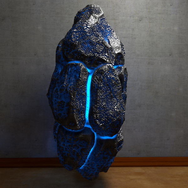 Glowing energy Stone 3 Texture Maps