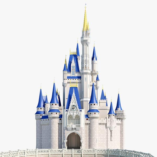 Cinderellas Castle Clipart Cinderella castle 3d models