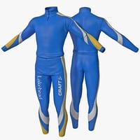 ski suit 3D models
