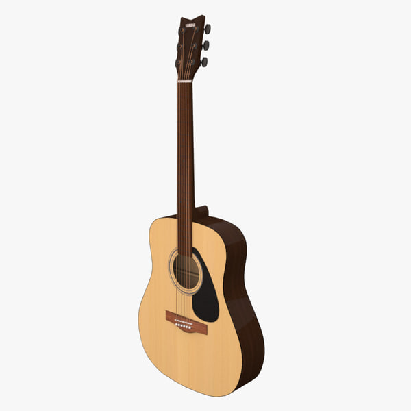 Yamaha F310 Acoustic Guitar 3D Models
