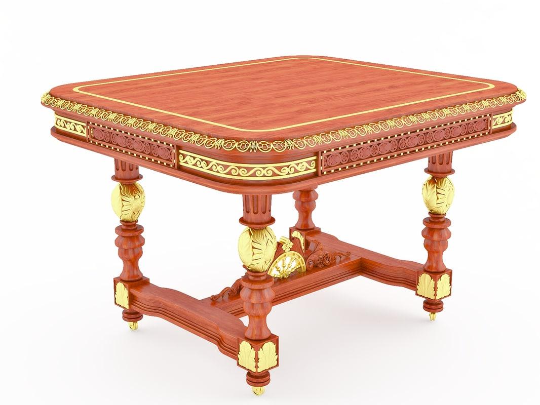 Classical antiquarian Breton table.