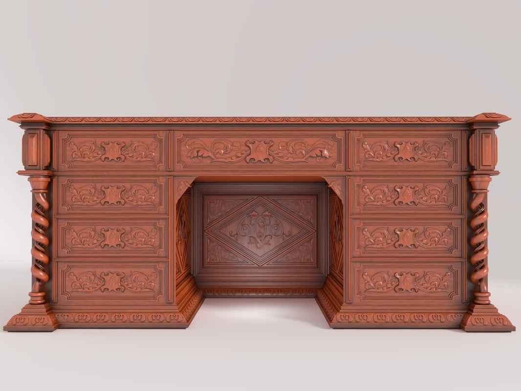 cabinet furniture classic 3d model