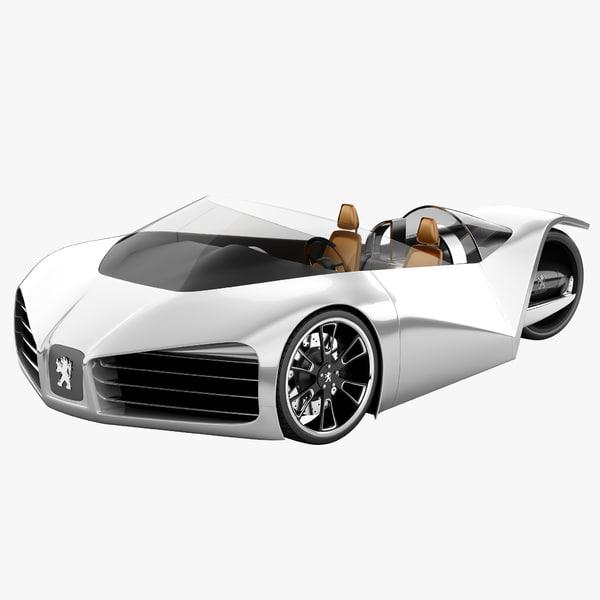 Peugeot Velocite Eco Concept Car 3D Models