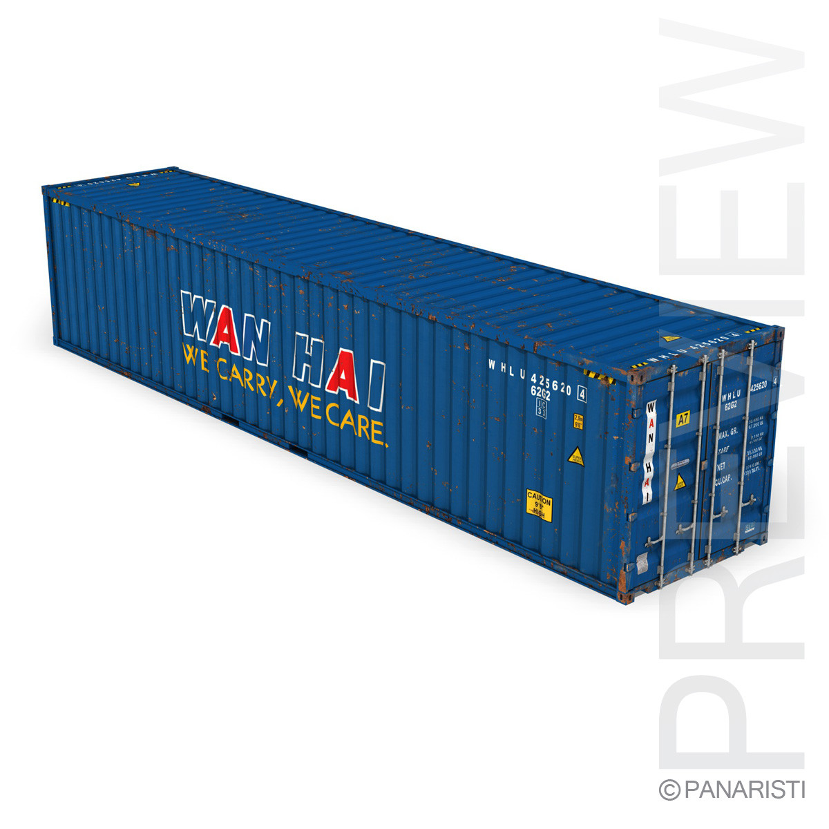 40ft Shipping Container - Wan Hai