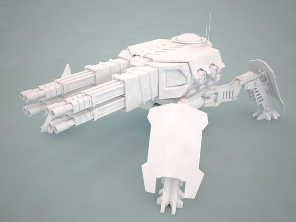 Turret canon 4F 3D Models